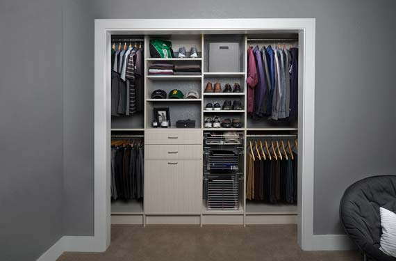 ... Tile Out Hampers Or Slide Out Scarf, Belt And Tie Racks. The Options  Are Endless When It Comes To Personalizing Your Custom Reach In Closet!